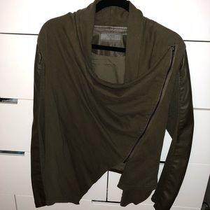 Blank NYC Faux Leather Drape Moto Zip Jacket